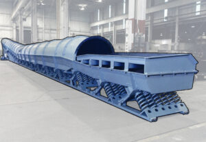 Foundry mold dump conveyor