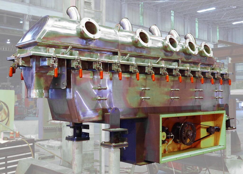 Vibrating Fluid Bed Dryer Food Processing